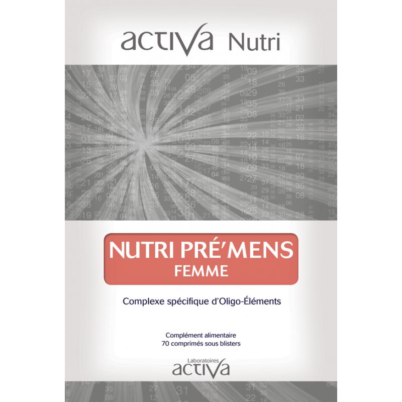 Complément Alimentaire Pre'Mens Femme Activa Nutri   Produits Nutritifs